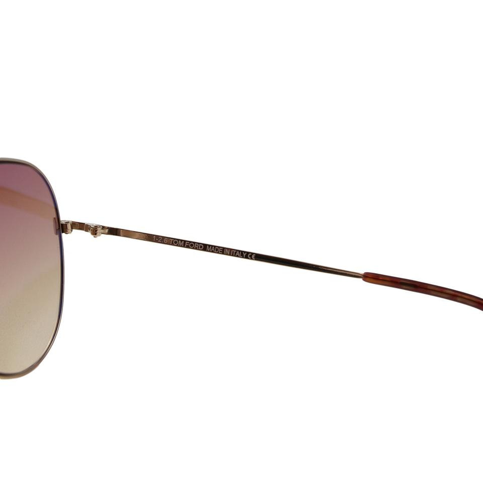 afca40e9259e Tom Ford Light Brown New Tf Indiana Ft0497 28z Women Rose Gold ...
