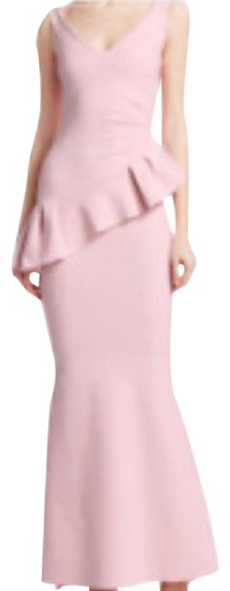 Blush Ruffle Long Formal Dress Size 6 (S) Blush Ruffle Long Formal Dress Size 6 (S) Image 1