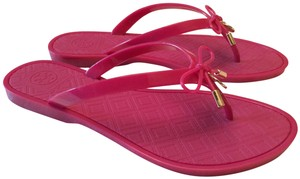Tory Burch #jelly #bow #flipflop Saucy Pink Sandals