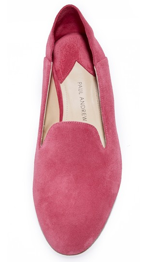 Paul Andrew Suede Inger Pink Flats Image 1