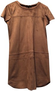 Lavender Brown short dress Brown Suede on Tradesy