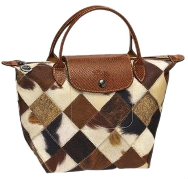Item - Patch Poney Toile Collection Brown Nylon Satchel