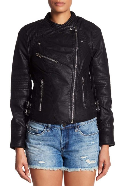 BlankNYC Faux Leather Biker Motorcycle Jacket Image 1