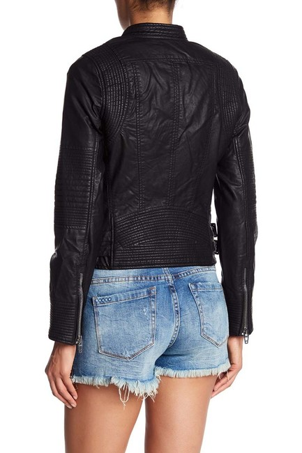 BlankNYC Faux Leather Biker Motorcycle Jacket Image 2