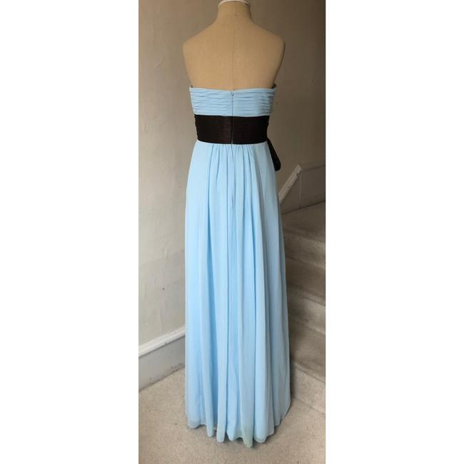 Bill Levkoff Blue and Brown Chiffon Strapless Sweetheart Gown #521 Formal Bridesmaid/Mob Dress Size 4 (S) Bill Levkoff Blue and Brown Chiffon Strapless Sweetheart Gown #521 Formal Bridesmaid/Mob Dress Size 4 (S) Image 3