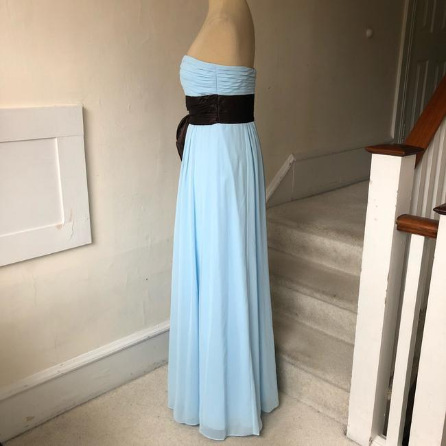 Bill Levkoff Blue and Brown Chiffon Strapless Sweetheart Gown #521 Formal Bridesmaid/Mob Dress Size 4 (S) Bill Levkoff Blue and Brown Chiffon Strapless Sweetheart Gown #521 Formal Bridesmaid/Mob Dress Size 4 (S) Image 4