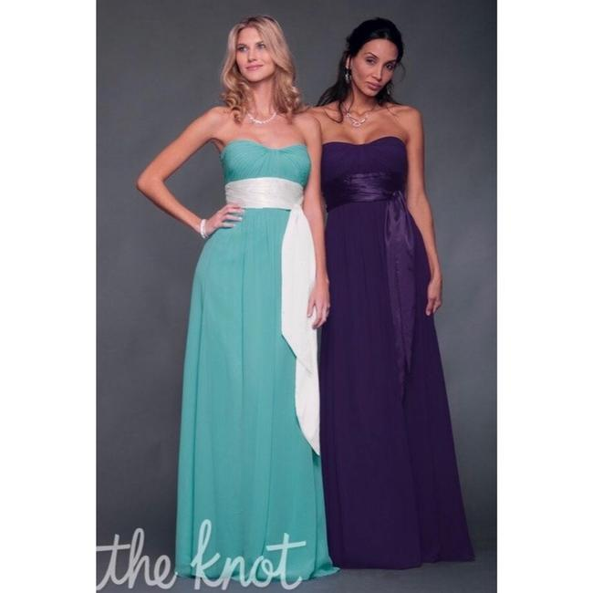 Bill Levkoff Blue and Brown Chiffon Strapless Sweetheart Gown #521 Formal Bridesmaid/Mob Dress Size 4 (S) Bill Levkoff Blue and Brown Chiffon Strapless Sweetheart Gown #521 Formal Bridesmaid/Mob Dress Size 4 (S) Image 9