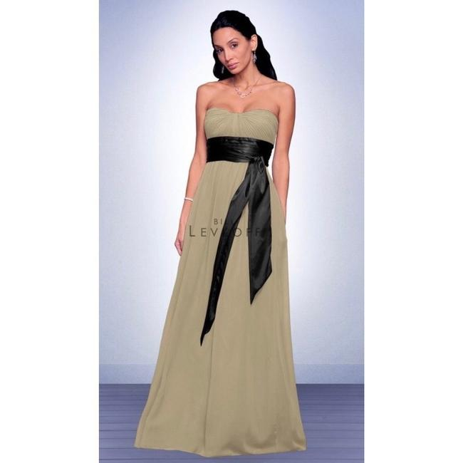 Bill Levkoff Blue and Brown Chiffon Strapless Sweetheart Gown #521 Formal Bridesmaid/Mob Dress Size 4 (S) Bill Levkoff Blue and Brown Chiffon Strapless Sweetheart Gown #521 Formal Bridesmaid/Mob Dress Size 4 (S) Image 10