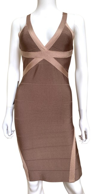 Item - Dusty Rose Strappy Bandage Crisscross Mid-length Night Out Dress Size 8 (M)