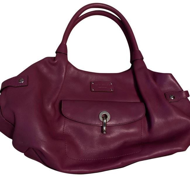 Item - With Matching Wallet. Purple Leather Hobo Bag
