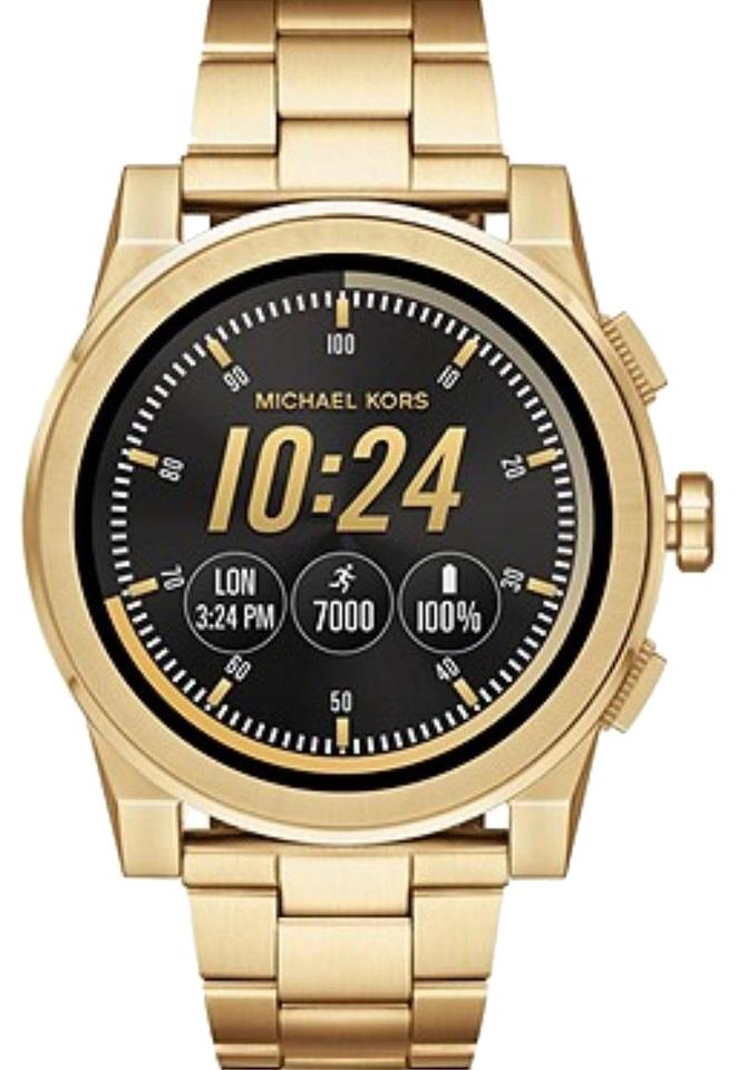 d1a5eb17f574 Michael Kors NWT Michael Kors Access Men s Grayson Gold Tone Touchscreen  Smartwatch MKT5026 Image 0 ...