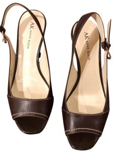 Anne Klein Brown with bone stitching Platforms