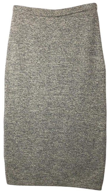 Item - Grey Knitted Wool Pencil Skirt Size 6 (S, 28)