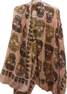 Other Large semisheer rose scarf with scalps print