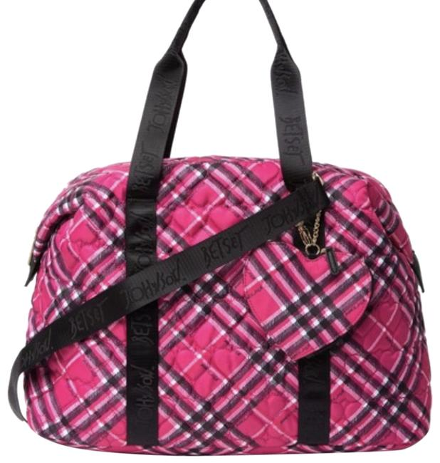 Item - Quilted Pink and Black Nylon Weekend/Travel Bag