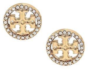 22742e2f6 Tory Burch Gold Small Circle Logo Studs Earrings - Tradesy