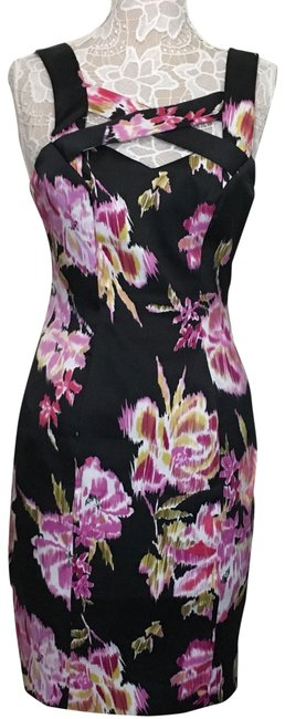 Preload https://img-static.tradesy.com/item/25079760/cache-criss-cross-bust-steath-bodycon-floral-cocktail-dress-size-4-s-0-1-650-650.jpg