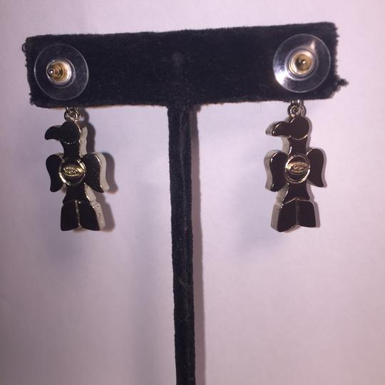 Chanel nwt CHANEL A07 Silver & Gripoix Totem Eagle CC Post Earrings Image 7