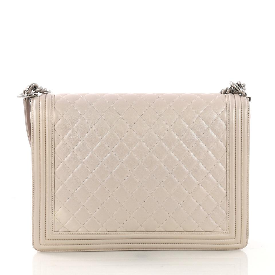 ade08256bda8 Chanel Classic Flap Boy Quilted Large Light Pink Lambskin Leather ...