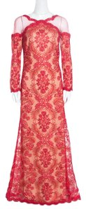 Red Maxi Dress by Tadashi Shoji Floral Embroidered Detail