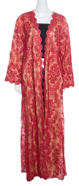 Tadashi Shoji Cord Embroidered Detail Trench Coat Image 0