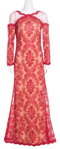 Red Maxi Dress by Tadashi Shoji Cord Embroidered Detail