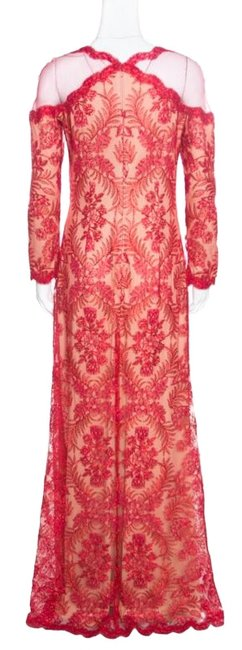 Red Maxi Dress by Tadashi Shoji Cord Embroidered Detail Image 1