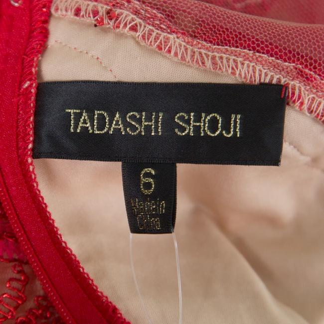 Red Maxi Dress by Tadashi Shoji Cord Embroidered Detail Image 4