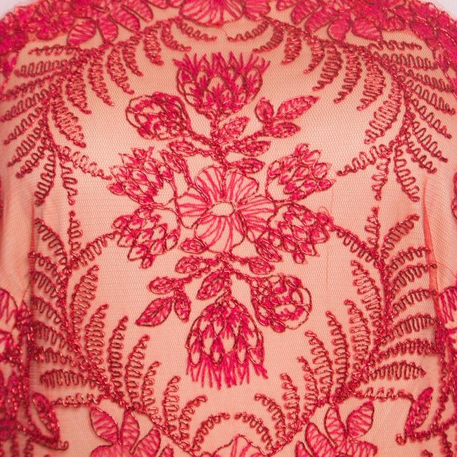 Red Maxi Dress by Tadashi Shoji Cord Embroidered Detail Image 5