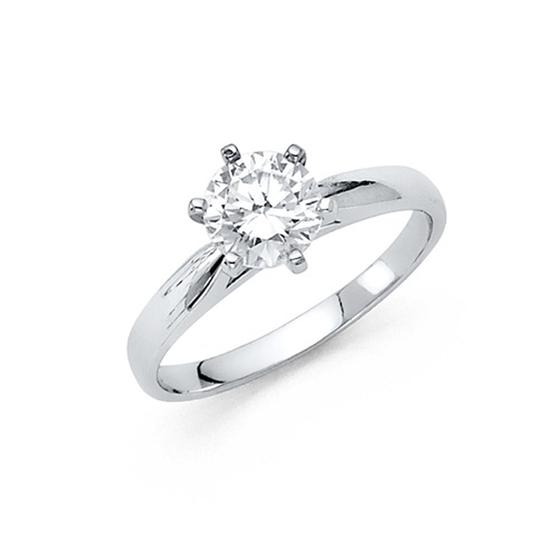 Preload https://img-static.tradesy.com/item/25079950/white-125-ct-round-cut-peg-head-cathedral-cz-engagement-in-14k-ring-0-0-540-540.jpg