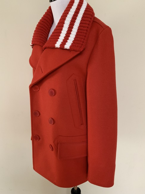 Givenchy Wool Double Breasted Striped Pea Coat Image 1