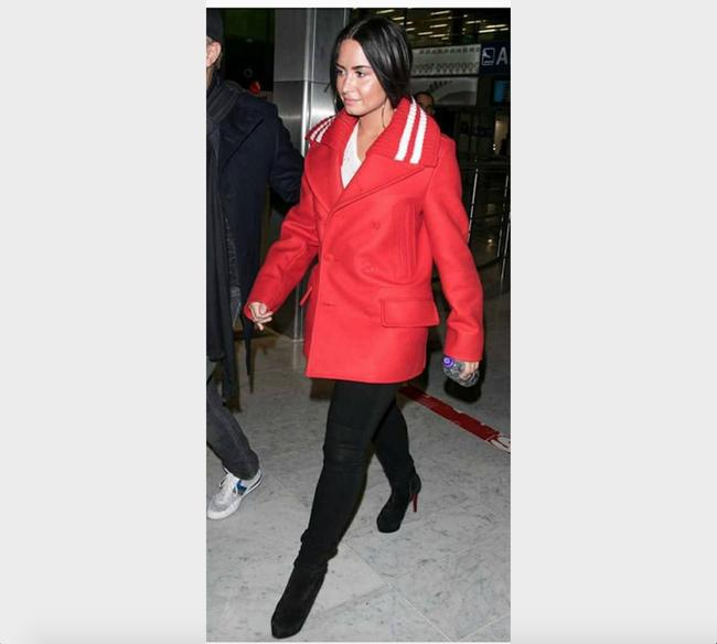 Givenchy Wool Double Breasted Striped Pea Coat Image 11