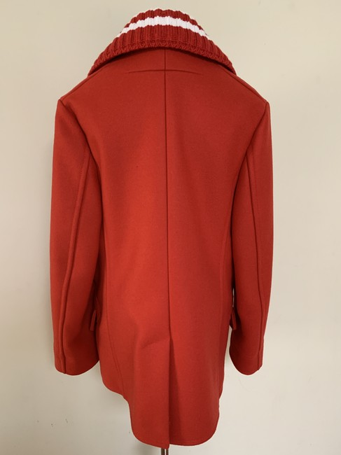 Givenchy Wool Double Breasted Striped Pea Coat Image 4