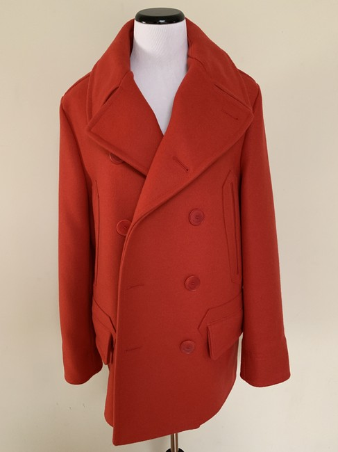 Givenchy Wool Double Breasted Striped Pea Coat Image 5