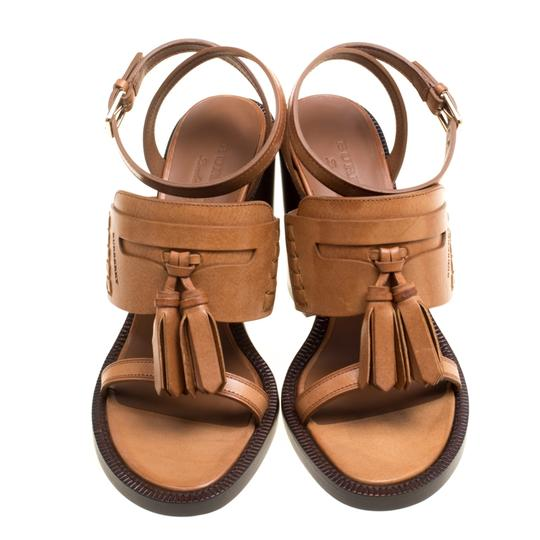 Burberry Leather Brown Sandals Image 1