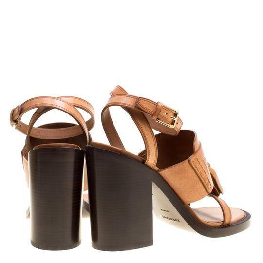 Burberry Leather Brown Sandals Image 3