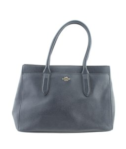 Coach Leather Tote in Blue