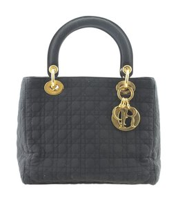 Dior Christian Nylon Tote in Black