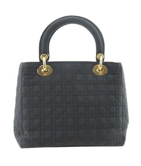 Dior Christian Nylon Tote in Black Image 4