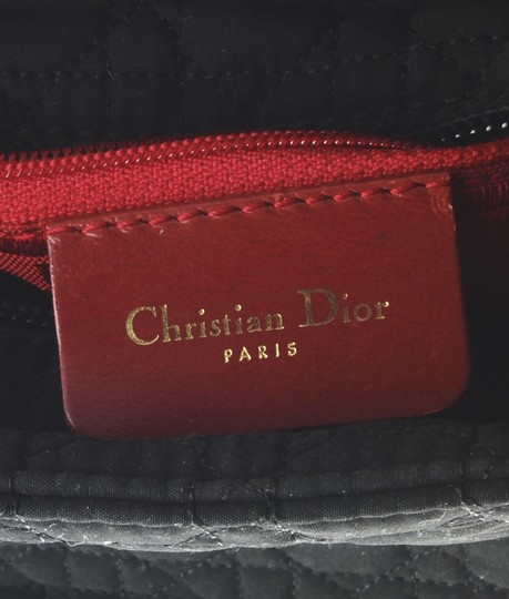 Dior Christian Nylon Tote in Black Image 9