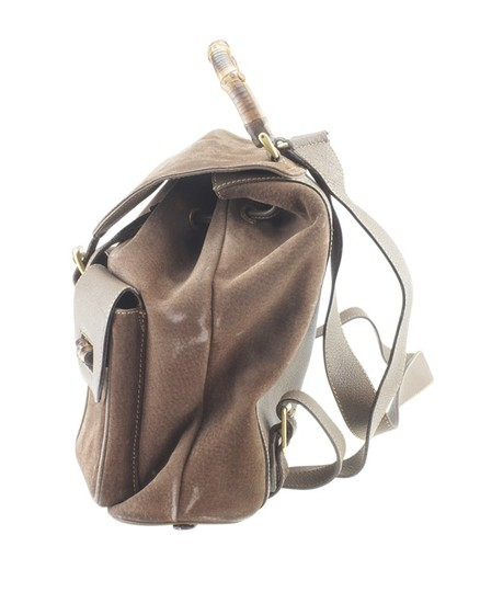 Gucci Gucci Vintage Bamboo Brown Nubuck Backpack (168906) Image 3