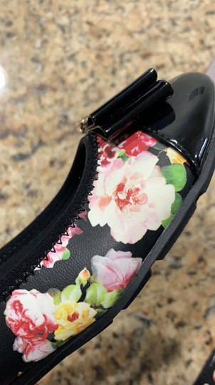 Anne Klein Aricia Black floral Flats Image 1