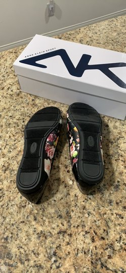 Anne Klein Aricia Black floral Flats Image 2