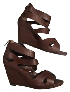 ebed72e030d6 Mossimo Supply Co. Wedge Platform Strappy Brown Sandals