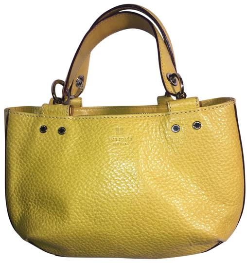 Preload https://img-static.tradesy.com/item/25080404/kate-spade-lemon-purse-yellow-pebbled-leather-satchel-0-1-540-540.jpg