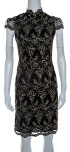 Alice + Olivia short dress Black Floral Embroidered on Tradesy