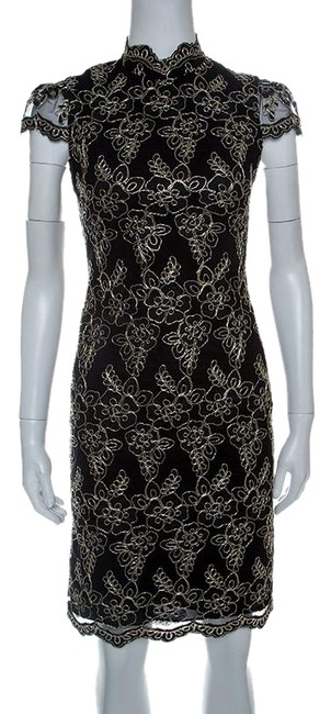 Preload https://img-static.tradesy.com/item/25080440/alice-olivia-black-floral-embroidered-tulle-high-neck-marya-short-casual-dress-size-4-s-0-1-650-650.jpg