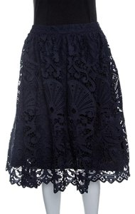 Alice + Olivia Lace Polyester Skirt Blue