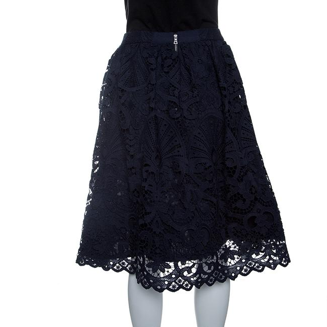 Alice + Olivia Lace Polyester Skirt Blue Image 1