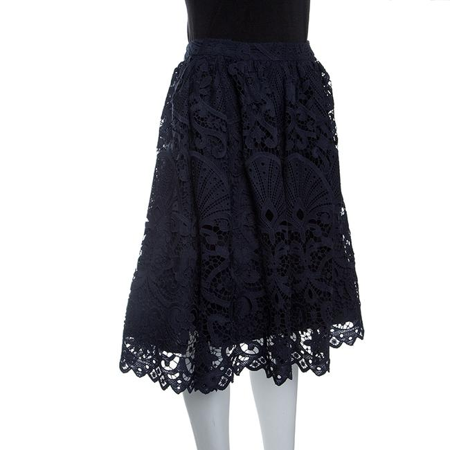 Alice + Olivia Lace Polyester Skirt Blue Image 2